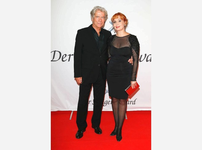 Jürgen Prochnow with friendly, Girlfriend Verena Wengler